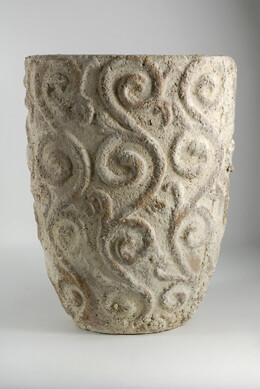 "13"" Stone Filigree Pot"