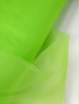 "Fine Tulle Bolt Apple Green / Chartreuse 54"" wide 40 yards"