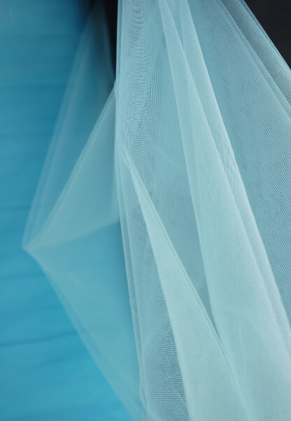 "54"" Light Blue Fine Tulle  40yds"