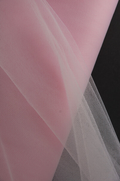 "54"" Light Pink Fine Tulle Bolt  40 yards"