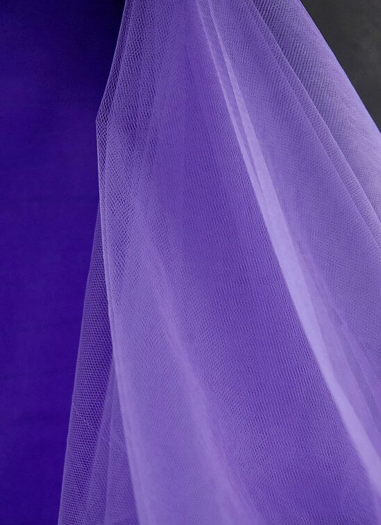 "54"" Purple Fine Tulle Bolt  40 yards"