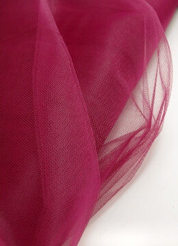 "Fine Tulle Burgundy Sangria 54"" wide 40 yards"