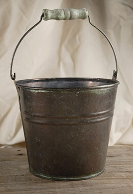 Flower Shop Bucket With Wood Grip 5.75in