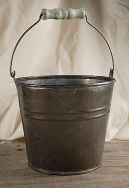 Flower Shop Bucket With Wood Grip 5.75in