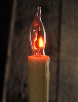 Flame Tip Flicker Candle Bulb|2 Pack C7