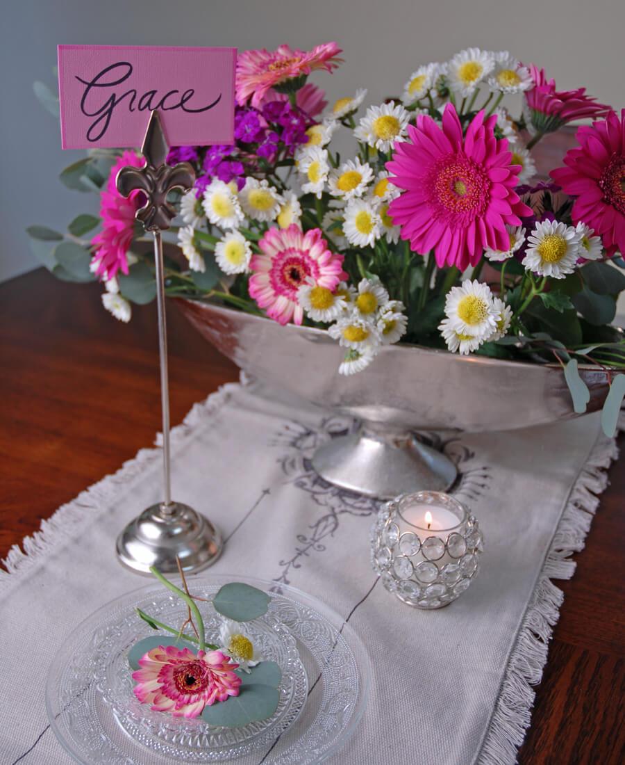 "6 Fleur de Lis Table Number Holders 13"" Tall"