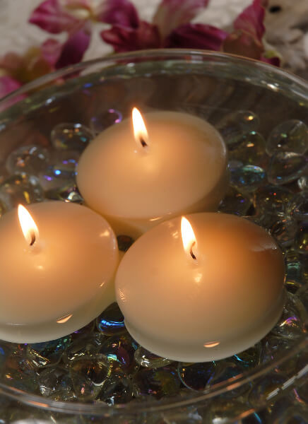 Ivory Floating Candles 3 Inch (12 Candles)