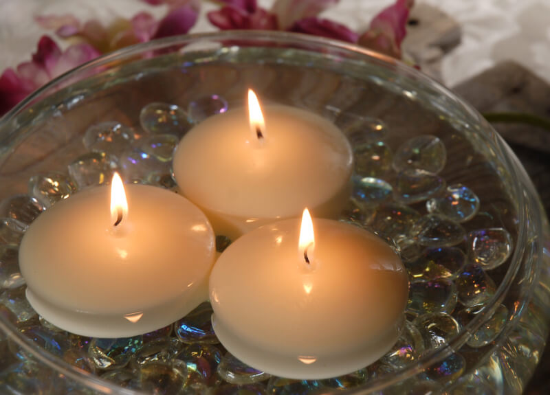 Floating Candles 3 Inch (12 Candles)
