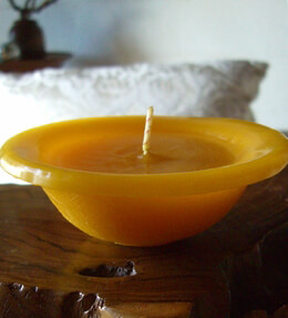 Floating Candles Large 4-3/4 Yellow Unscented Candle