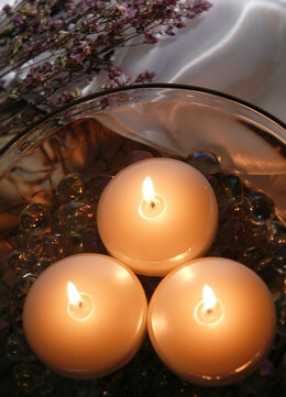 Floating Candles Pearl White 3in | 6 candles