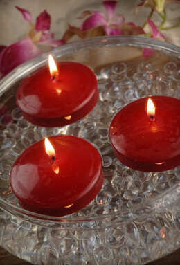 "Red 3"" Floating Candles (12 candles)"