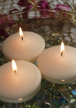 Ivory Floating Candles 2.8 Inch (3 Candles)