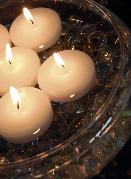 White Floating Candles 2.25 Inch (6 Candles)