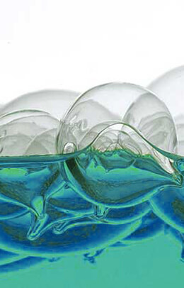 "6 Floating Glass 2.5"" Balls"