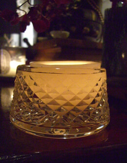 "Floating Reusable 3"" Hollow Wax Luminary Butterscotch"