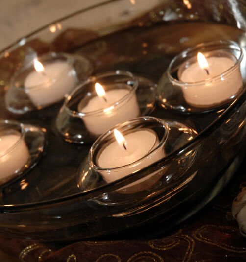 Glass Floating Tealight Holders | 12 Holders