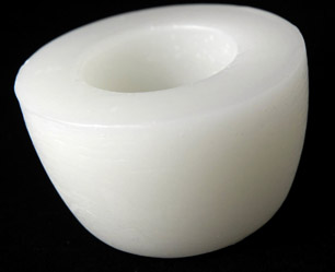 Floating Wax Disc White 4 Inch