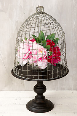 Floral Birdcage 22.5in