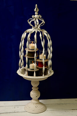 Floral Birdcage Cream 28in