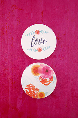 Floral Paper Coasters (Pack of 20)
