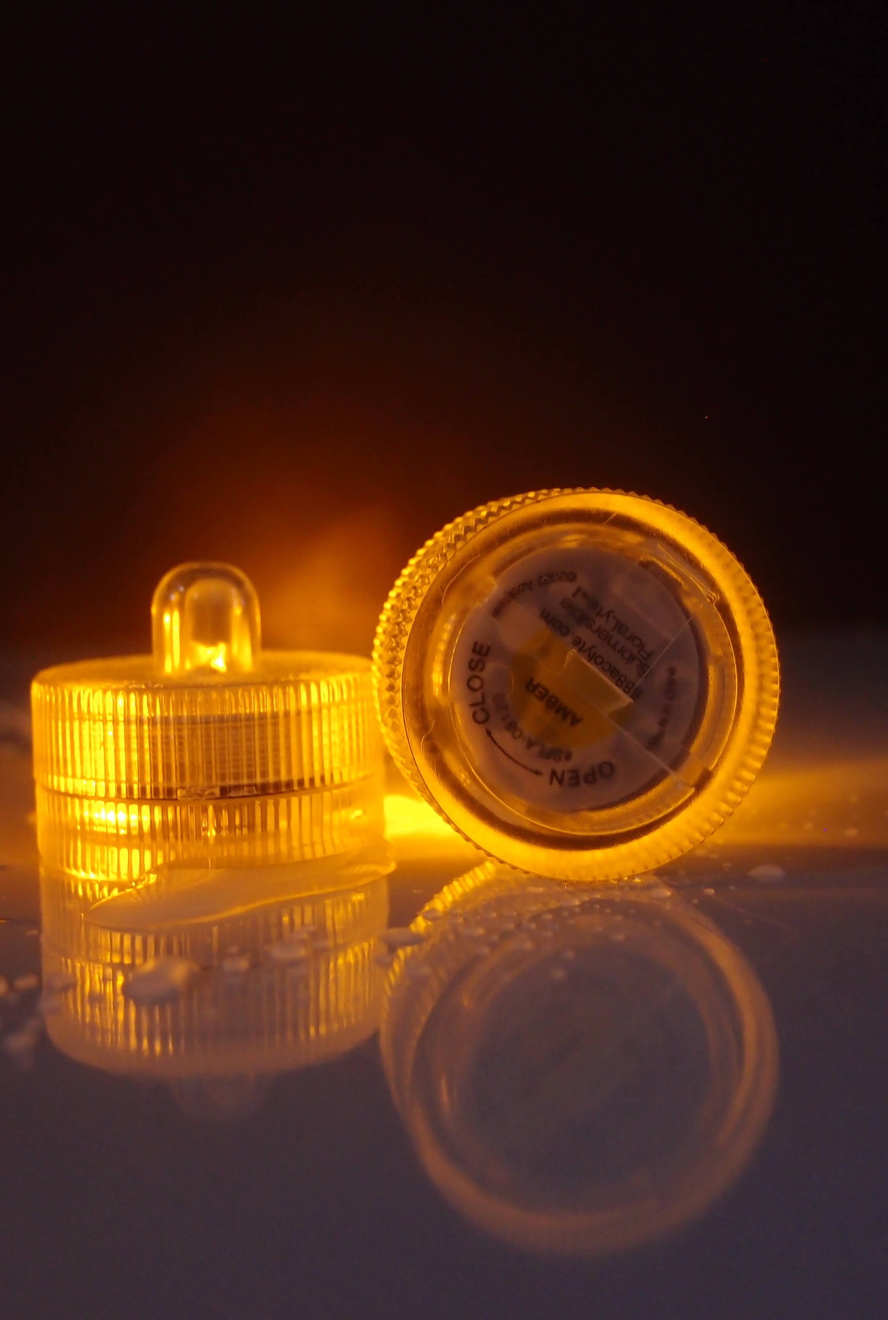 Floralyte Submersible III AMBER (Pack of 10) On/Off Button & Three Light Settings
