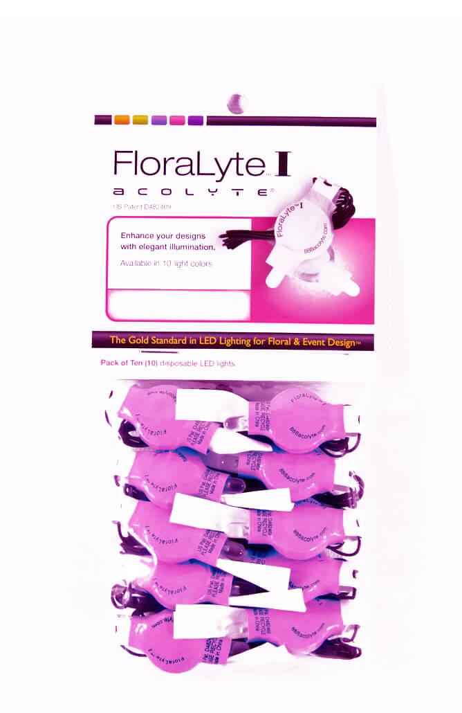 10 Purple Floralytes - Decorative Accent Lighting