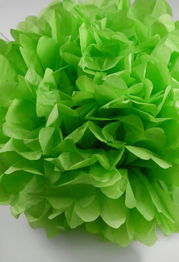 Tissue Paper Pom Poms Lime Green 20in | Pack of 4