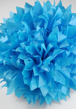 "Tissue Paper Pom Poms 16"" Turquoise Blue (Pack of 4)"