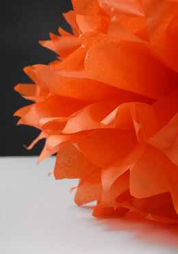 "Tissue Paper Pom Poms 16"" Orange (Pack of 4)"