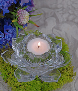 Flower Candle Holder 4.75in