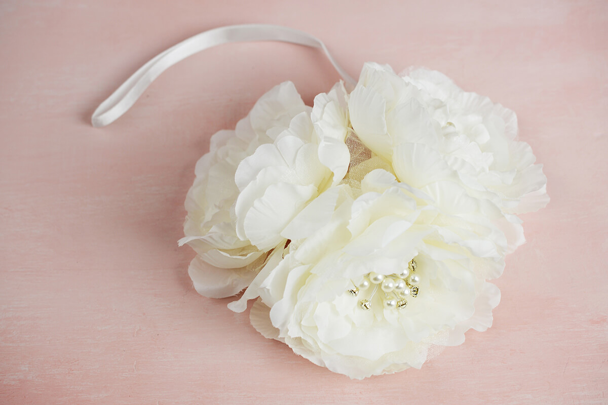 Bridal Flower Cluster with Diamond Accents