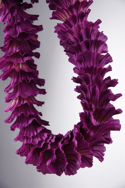 Flower Leis Silk Violet Trumpet Flowers
