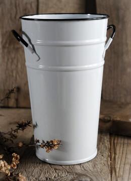 Flower Market Bucket White 7in