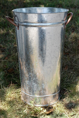 Flower Market Buckets 16 x 9 Copper Handles Galvanized