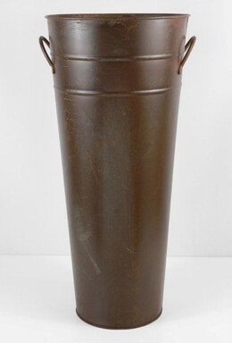 "Brown Rust 22"" French Flower Market Bucket  with Handles 22x10"