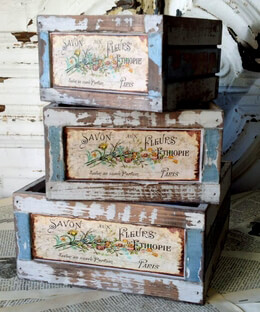 Flower Market Crates (Set of 3)