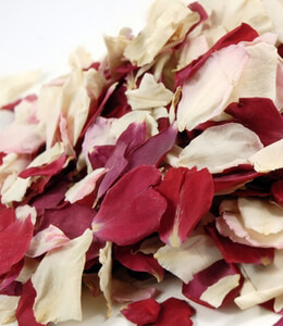 Natural Freeze Dried Red White Blush Flower Petals 5 cups