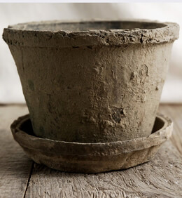 Clay Flower Pot with Saucer
