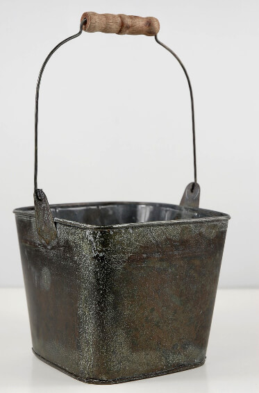 Flower Shop Metal Bucket with Handle