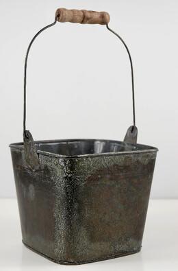 Flower Shop Metal Bucket with Handle