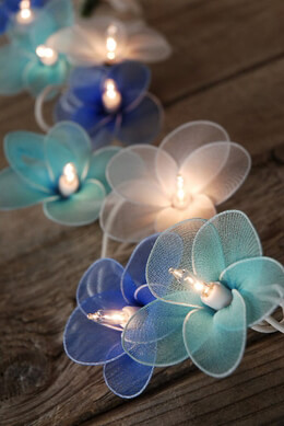 Flower String Lights | Blue