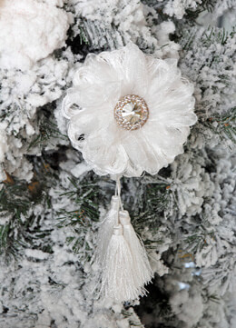 Flower Tassel Ornament 8in