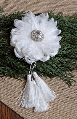 Flower Tassel Ornament 8in