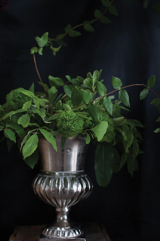 "Caesar Silver 11.25"" Classic Style Flower Urn"