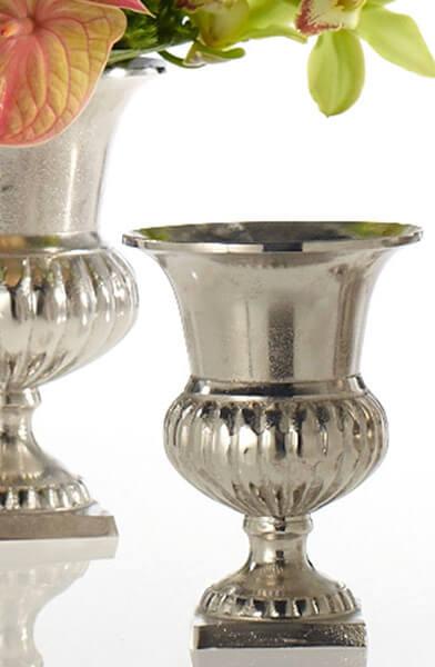 "Caesar Silver Metal Classic Urn 8.25"""