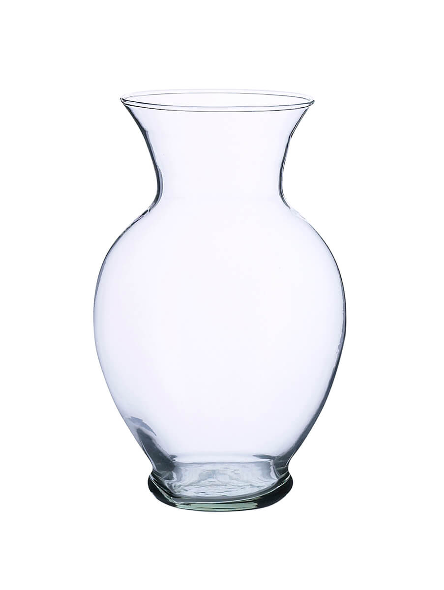 Flower Vases Recycled Glass 8.5in