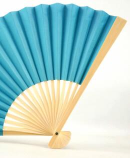 Turquoise Blue Paper Folding Fans