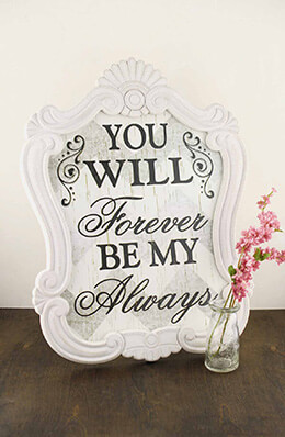 "Forever and Always Wedding Sign 20.75"" x 16"" IMAX"