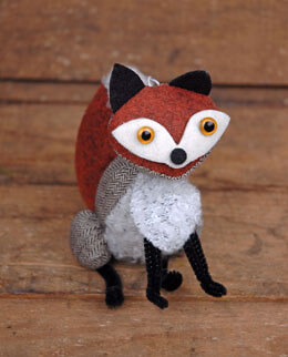 Fox Fabric Ornament 5in