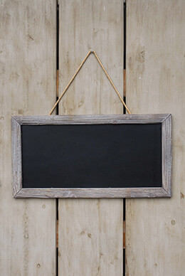Framed Chalkboard 23.5 x 12.25in